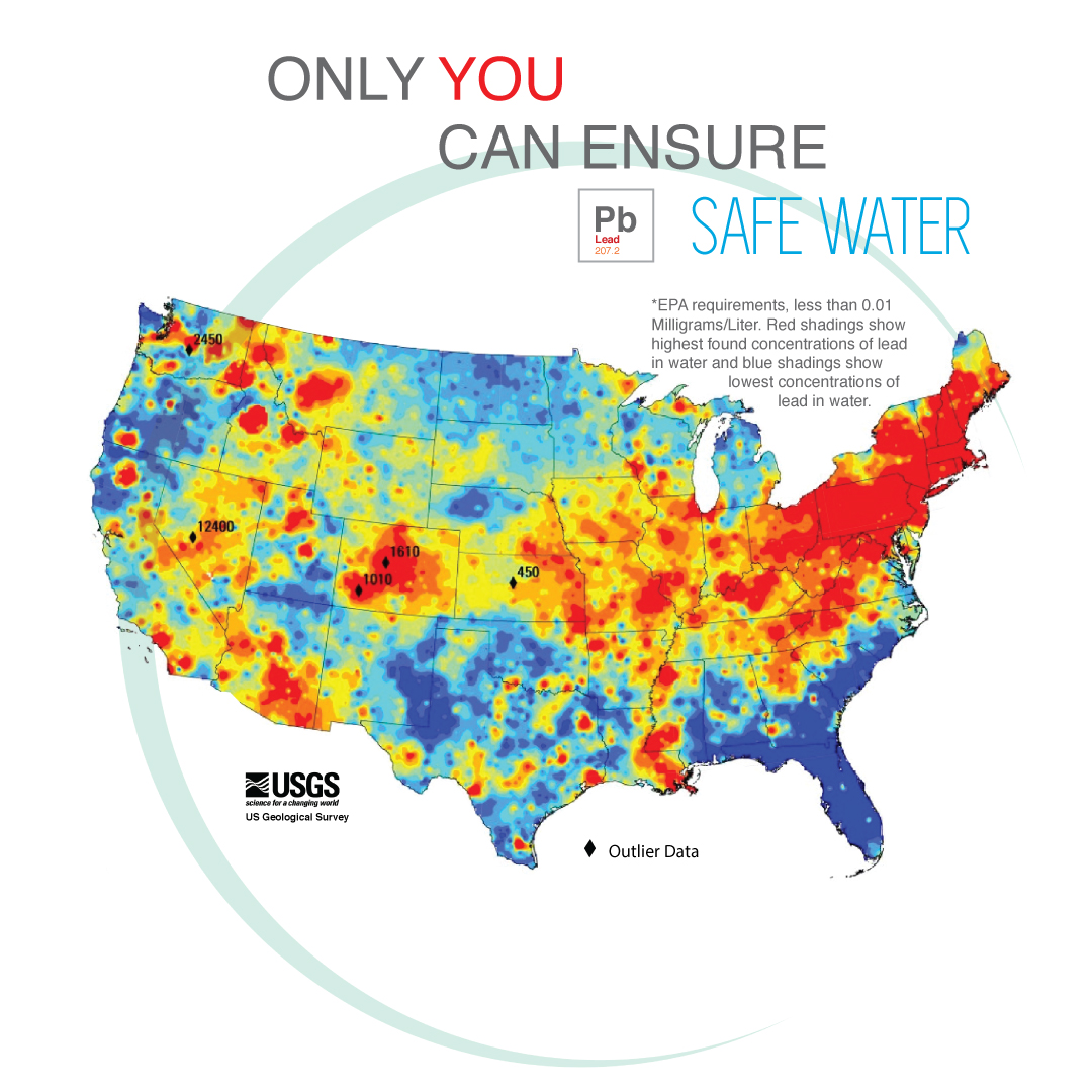 Us Map Of Lead In Water - Us groundwater map